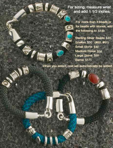 Ascent climbing rope bracelets Laura LewAllen Santa Fe New Mexico