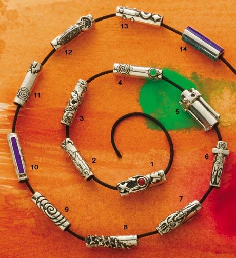 Santa Fe Jewelry Designers LewAllen LewAllen Silver and Gold EWOP