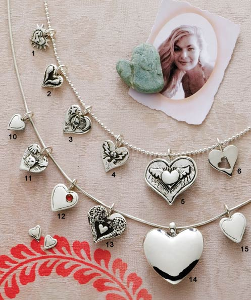 Heart jewelry by Santa Fe jewelry designer Laura LewAllen