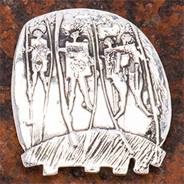 Stilt Walkers Pin or Pendant